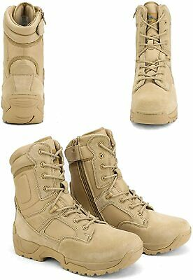 $49.49 • Buy Men's Military Tactical Work Boots Hiking Motorcycle Ankle-high Combat Bootie US