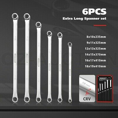 AU49.95 • Buy 6 PCS Extra Long Cr-V Spanner Set Wrench Repair Hand Tool Double Ring