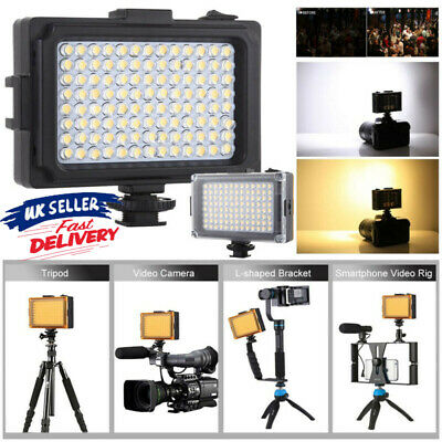 For Camcorder DV 120° 96LED Dimmable  Video Light Photo Camera Shoe LED Lamp UK • 12.88£