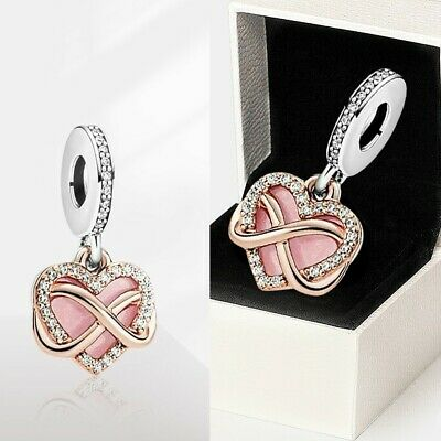 Mother'Day Pandora Pendant Charm Genuine Sparkling Infinity Heart Dangle S925ALE • 13.16£