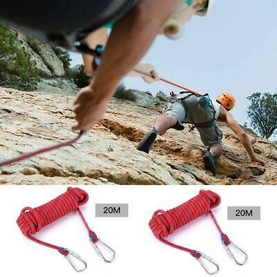 Polyester Rock Climbing 65.6ft Rope EmergencyOutdoor Survival Fire Escape Safety • 20.99£