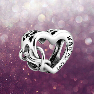 ALE S925 Pandora Charm Love You Mum Genuine Infinity Heart With Gift Box Silver • 11.88£