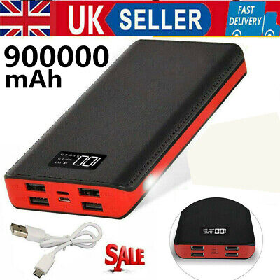 £14.99 • Buy 900000mAh Travel Camping 4USB Power Bank Battery Quick Charger For Mobile Phone