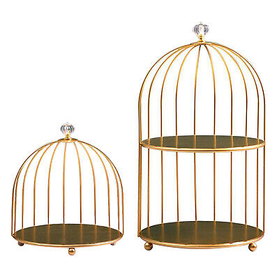 £10.99 • Buy Iron Bird Cage Shaped Cakes Cupcakes Display & Serving Stand, Dresser Cosmetic