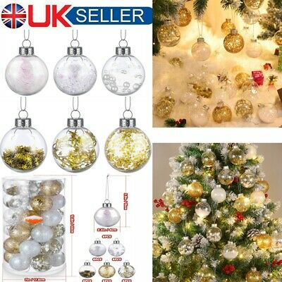 36X Christmas Tree Balls Baubles Glitter Hanging Xmas Party Ornament Home Decor • 8.99£
