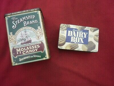 2 X Vintage Sweet-tins  Sweets--confectionery--advertising--collectable • 7.50£