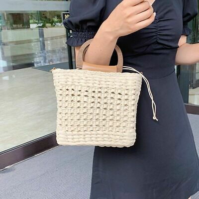 $ CDN54.46 • Buy Summer Women Rattan Small Handbags Ladies Shoulder Crossbody Beach Straw Bags