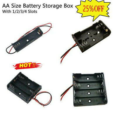AU2.69 • Buy AA Battery Holder Box Storage Case Open&Closed Switch 1x 2x 3x 4 Cells 2021 NIC