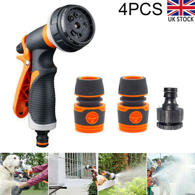 £8.71 • Buy Hose Pipe Fittings Nozzle Connector Water Spray Gun Set Outdoor Garden Fittings