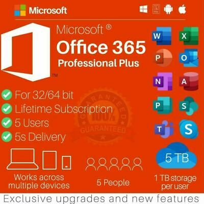 AU6.47 • Buy ✅🔥MICROSOFT365 OFFICE✅🔥LIFETIME✅ACCOUNT✅FOR 5✅DEVICES✅🔥ANDROID✅PC&Mac✅5000GB