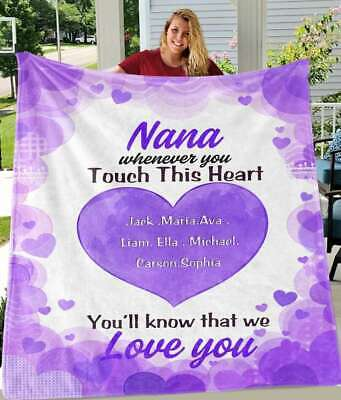 Personalized Peach Heart Blankets With Your Nick & Kids' Names • 50.62£
