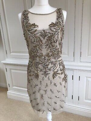 £40 • Buy Aiden Mattox Embellished Cocktail Dress. Nude. Size 14. New With Tags.