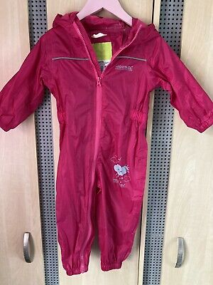 Girls Regatta Waterproof Puddle Suit • 10£