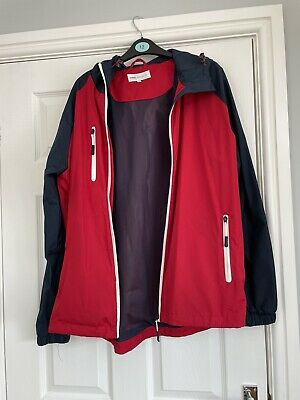 Mens XL RED AND NAVY JACKET WITH 3 Zipped Pockets Out,1 Pocket In, Mesh Lining. • 5£
