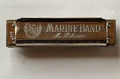 $22.50 • Buy Vintage M. Hohner Marine Band Model A440 Harmonica - Key Of G - Made In Germany