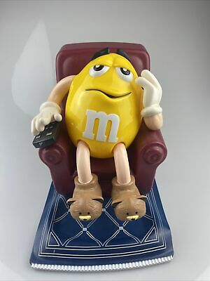 $13.99 • Buy M & M Mars Candy Dispenser Lazy Chair Recliner Yellow M & M Man - Used