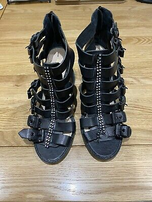 Kurt Geiger Used Gladiator Sandals With Block Heels, Size 40, Good Condition. • 3£