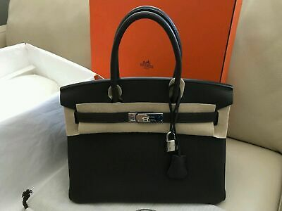 AU1440.88 • Buy HERMES 30CM Birkin Graphite Togo Leather Palladium Hardwares 100$% AUTH