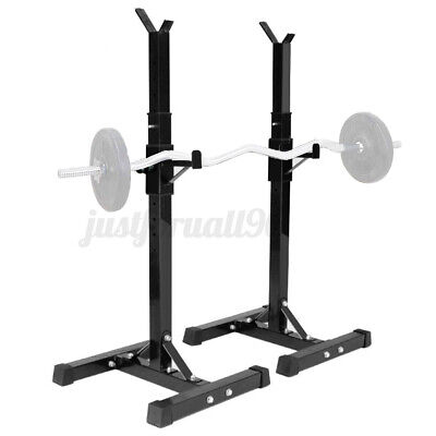 $ CDN107.83 • Buy Adjustable Height Squat Rack Bench Press Power Weight Rack Barbell Stand GymHome