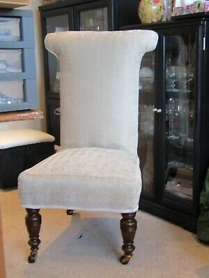 £120 • Buy Prie Dieu Chair, Antique Victorian Prie Dieu Chair - Recently Upholstered