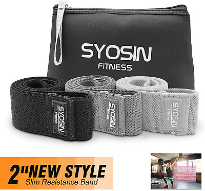 $ CDN10.53 • Buy SYOSIN Resistance Bands, Non-Slip Exercise Loop Bands For Hips And Glutes 3 For