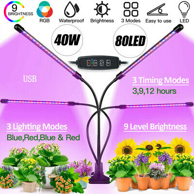 £9.99 • Buy Remote Dimmable LED Grow Lights Clip Plant Garden Lamp Indoor Plant Hydroponics