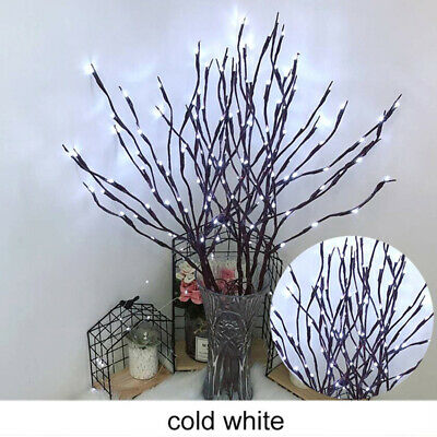£9.79 • Buy 20 LED Branch Twig Lights Light Up Willow Branches White Birch Battery Operated