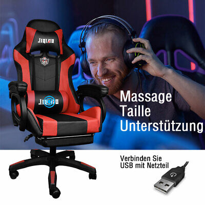 AU122.84 • Buy Gaming Chair Office Executive Computer Chairs Racing Seating Footrest Racer