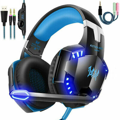 AU27.99 • Buy Gaming Headset USB Wired LED Headphones Stereo With Mic For PC Desktop & Laptop
