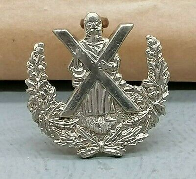 Lovely Queen's Own Cameron Highlanders Military Cap Badge R147 • 15£