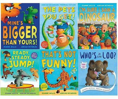 £14.98 • Buy Jeanne Willis Whos In The Loo 6 Picture Books Set By Jeanne Willis & Adrian