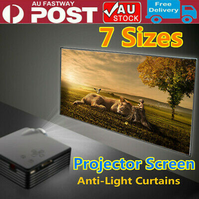 AU32.99 • Buy 130 Inch Projector Screen Home Theatre HD TV Projection 3D AU