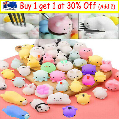 AU8.99 • Buy 10-50PC Cute Animal Squishies Kawaii Mochi Squeeze Toys Stretch Stress Squishy ~