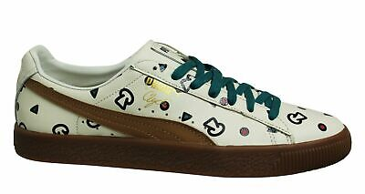 £44.99 • Buy Puma Clyde Graphic X TYAKASHA Birch Leather Low Lace Up Mens Trainers 368100 01