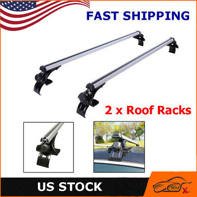 $66.49 • Buy 50'' Car Top Luggage Roof Rack Aluminum Cross Bar Carrier Window Frame With Lock