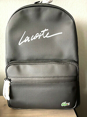 £72.72 • Buy Brand New Unisex L.12.12 Concept Lacoste Lettering Backpack In Black