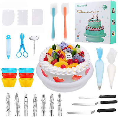 117 PCS Cake Decorating Supplies Kit For Beginners W/ Storage Case • 27.18£