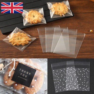 £2.68 • Buy 100pcs Cellophane Wedding Party Favour Sweet Macarons Gift Cookie Candy Bags UK