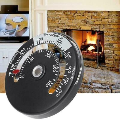 Stove Pipe Magnetic Thermometer Wood Log Burning Fire Flue Heater Temp Gauge UK • 5.55£