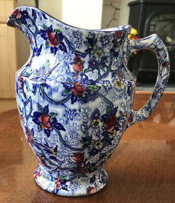 £10.50 • Buy Art Deco LARGE Ringtons Blue Floral Chintz Jug By Maling Ware 3 Pint. Crazing