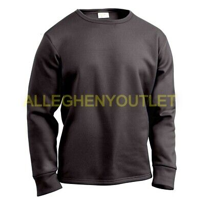 $17.90 • Buy US Military HEAVYWEIGHT POLYPRO THERMAL UNDERWEAR Crew Neck Shirt Black S-L NEW