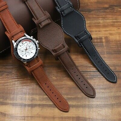 $29.89 • Buy Leather Cuff Watch Band Strap Soft Genuine Replacement For Watch Strap Bracelet