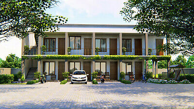 Custom Apartment Two Story Complex House Building 4-8 Bed Rooms Plans - CAD File • 7.86£