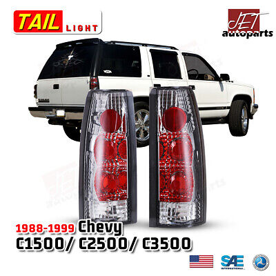 $35.99 • Buy For 88-98 Chevy GMC C/K 2500 3500 /95-00 Tahoe Tail Lights Lamp Chrome/Clear L+R