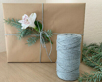 £1.15 • Buy Silver Grey Solid Colour Bakers Twine Craft Parcel String 1m-100m