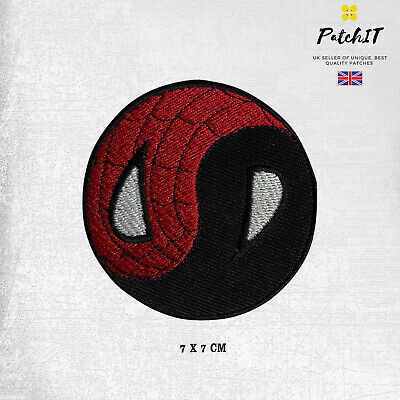 £1.99 • Buy Yin Yang Spiderman Round Logo Patch Iron On Sew On Badge Embroidered Patch