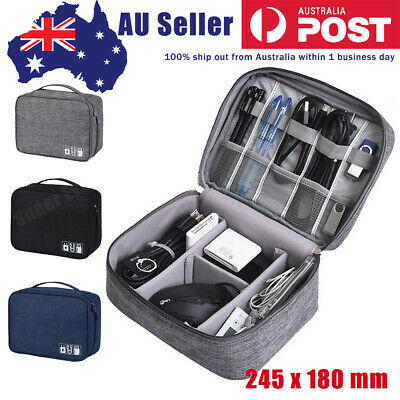 AU16.80 • Buy Cable Electronic Accessories Cable Bag Organizer Waterproof Travel Storage Cases