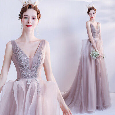 AU159.56 • Buy Noble Evening Formal Party Ball Gown Prom Bridesmaid Host Show Dress TS17028
