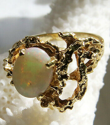 £212.40 • Buy  Opal Ring 14k Yellow Gold Size 6.75 Cocktail
