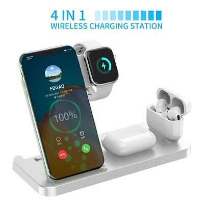 AU30.86 • Buy 4in1 15W Qi Wireless Charger Dock Stand Pad For Apple Watch IPhone 12 Pro 11 XS